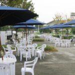 休憩スペースやカフェ、屋外イベントにおすすめ!ガーデンパラソルを大阪でお探しなら!!